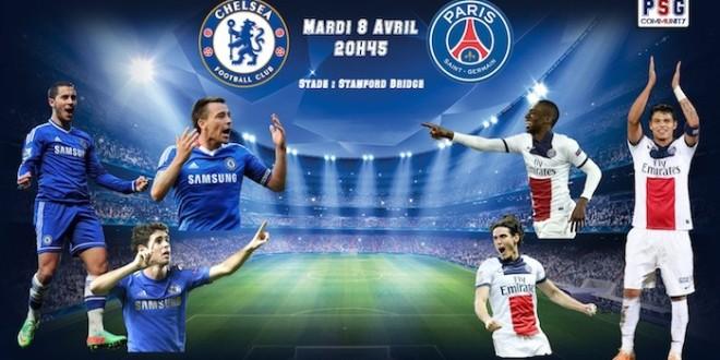 FÚTBOL: Champions League. Chelsea FC – PSG. (08/04/14)