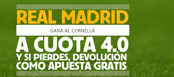 SUPERCUOTAS BETFAIR: Real Madrid gana en Cornellà a cuota 4!!