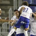 Jugadores Tenerife celebrando gol