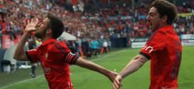 Osasuna celebrando gol
