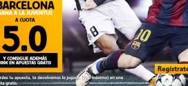 Supercuota Betfair victoria del Barcelona cuota 5