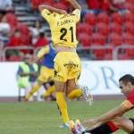 Sandaza marcando un gol en Mallorca