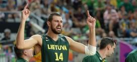 Jonas Valanciunas, jugador lituano de Toronto Raptors