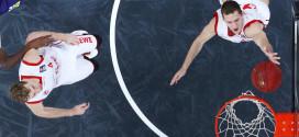 Nicolo Melli y Janis Strelnieks, jugadores del Brose Baskets