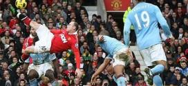 Rooney fue el autor de un gol impresionante de chilena en un derbi de Manchester