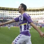 Juan Villar, celebrando un gol
