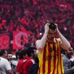 Los jugadores del Barcelona