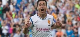 Pedro celebra un gol