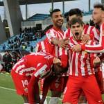 Pozo celebra su gol ante el Albacete