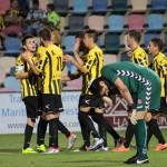 Los jugadores del Baraka celebran un gol