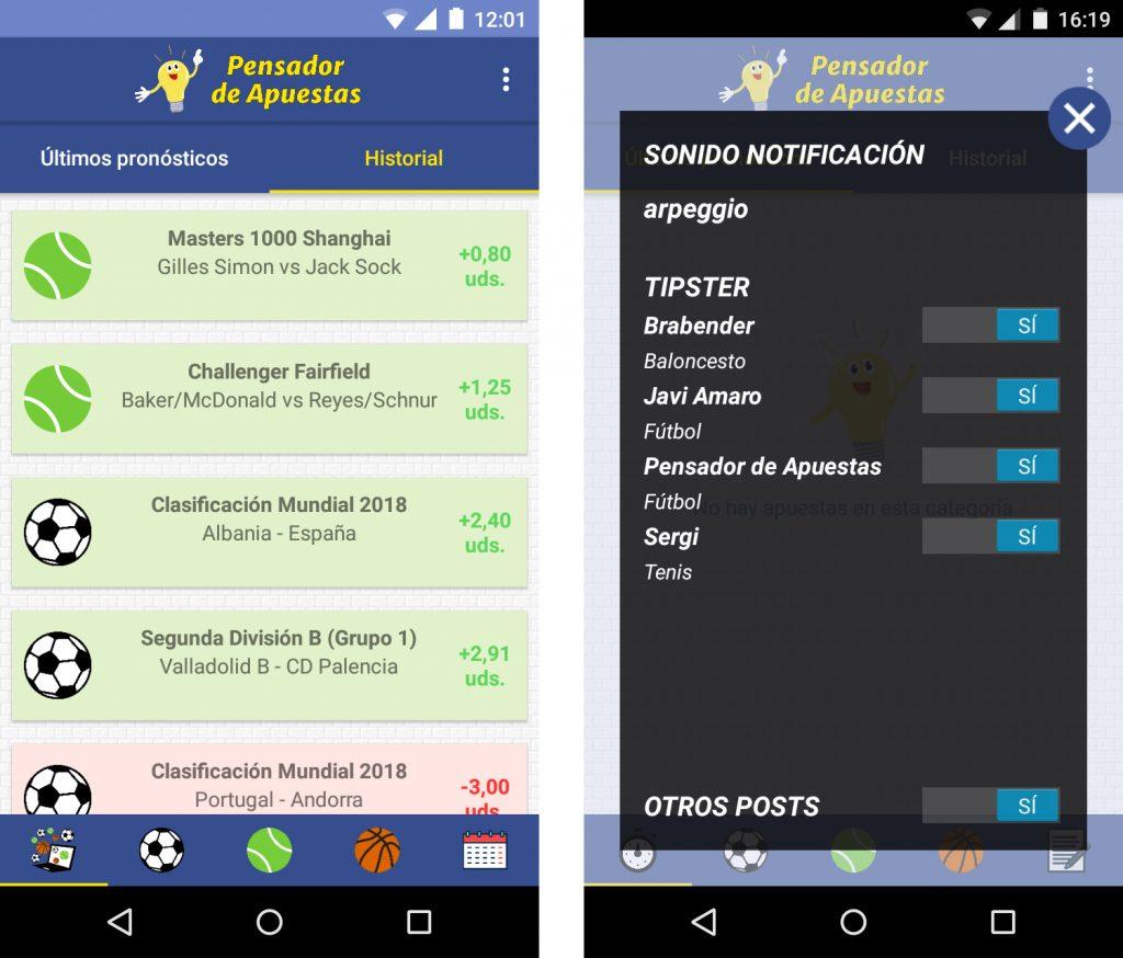 app-pensador-de-apuestas-historial-y-opciones
