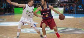 Barcelona y Unicaja juegan en el Palau Blaugrana