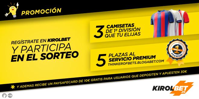 ¡Sorteo y 10€ gratis para nuevos usuarios de KIROLBET!