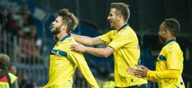 Jugadores Brondby celebrando gol