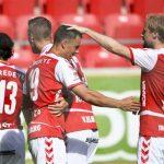 Jugadores Kalmar celebrando gol