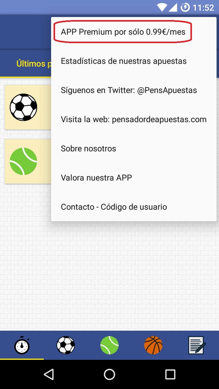 Comprar APP Premium - Android