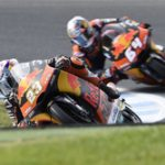 Niccolo Antonelli pilotando su Ktm en Phillip Islands