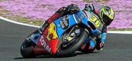 Joan Mir pilotando su Moto2 en pretemporada