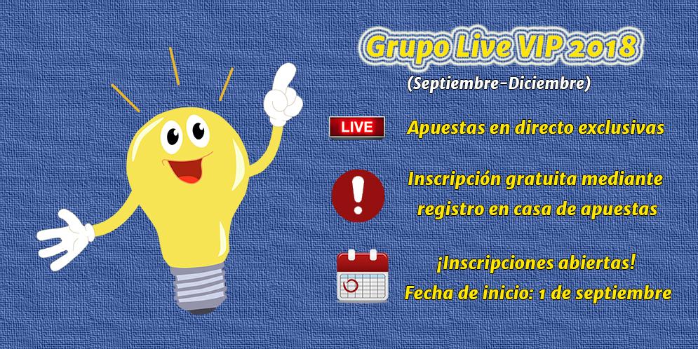 Grupo Live VIP 2018 (Septiembre-Diciembre) – Información e inscripciones