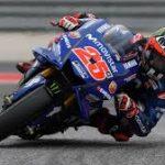 Maverick Viñales exprimiendo su Yamaha en el circuito de las Americas