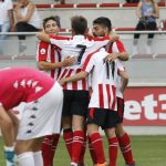 Bilbao Athletic celebrando un gol vs Leioa