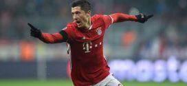 Lewandowski celebrando un gol