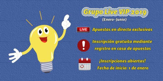 Grupo Live VIP 2019 (Enero-Junio) – Información e inscripciones