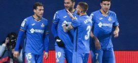 El getafe celebrando un gol esta temporada