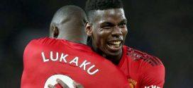 pogba y lukaku celebrando un gol del manchester united