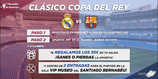 ¡¡¡Consigue 30€ gratis y vive el Real Madrid – Barcelona en un palco VIP!!!