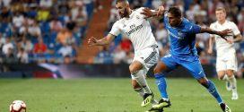Real Madrid y Getafe durante un partido de la liga santader