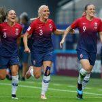 noruega celebrando la victoria sobre nigeria en el mundial de francia de fútbol femenino