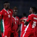 Kenia celebra un gol