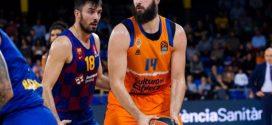 bojan dubljevic con valencia basket contra el barcelona en el palau blaugrana