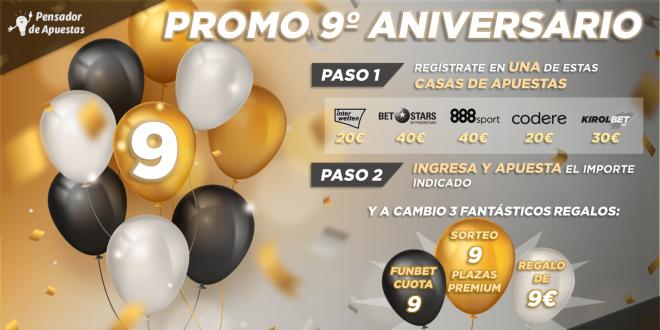 ¡¡¡SÚPER PROMOCIÓN 9º ANIVERSARIO!!!