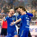 Jugadores del Valdepeñas celebrando un gol de la pasada jornada