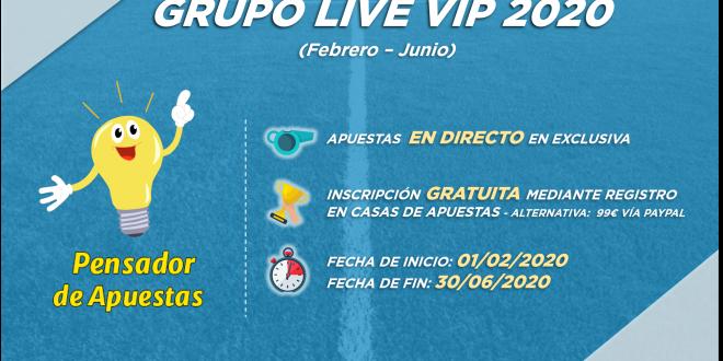 Grupo Live VIP 2020 (febrero – junio). Información e inscripciones